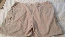 Michael Austin Rugged Wear Cargo Shorts Mens 42x7 Color Light Khaki Cotton Blend