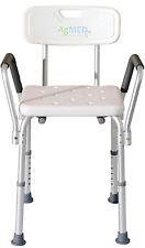 Sedia da doccia con braccioli e schienale antiscivolo Bagno Disabili Anziani