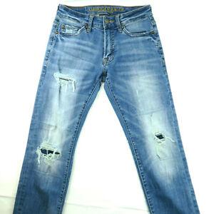 American Eagle Extreme Flex 4 Slim Fit Jeans Men's Size 26 X 28 Distressed