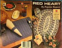 Red Heart by Popular Request Book 350 6 Designs 1990 Shawl Doily Hangers