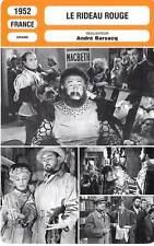 FICHE CINEMA : LE RIDEAU ROUGE - Simon,Brasseur,Barsacq 1952 Crimson Curtain
