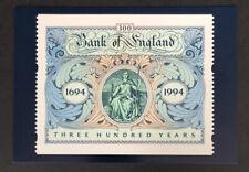 GB 1996 MINT PHQ D9 Bank Of England Tercentenary Postcard