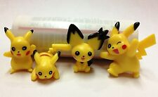 Pokemon Monsters Pikachu Mini Figure Toy Pendant Charms Random 4pc Lot Kids Gift