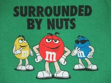 M&M'S CHOCOLATE CANDY SURROUNDED BY NUTS  - GREEN MEDIUM T-SHIRT-A1898