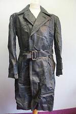 VINTAGE WW2 GERMAN OFFICERS HORSEHIDE LEATHER COAT JACKET SIZE EU52 UKL