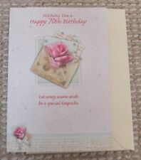 Wishing You a Happy 70th Birthday special keepsake Greetings Card