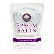 Elysium Spa Epsom Bath Salts Natural Magnesium Sulphate Crystals - LAVENDER x 1