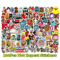 100 Random Vinyl Laptop Luggage Decals Skateboard Stickers Dope Sticker Lot Mix