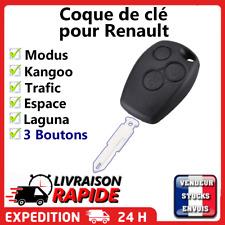 Coque Clé Plip 3 Boutons pour Renault Kangoo Modus Trafic Laguna Espace