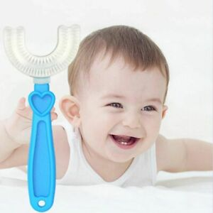 U-shaped Baby Toothbrush Teeth Cleaner Soft  Material Childrens Toothbrush