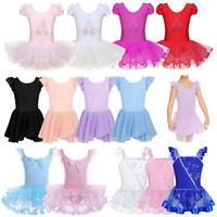 Girls Ballet Tutu Dance Dress Kids Gym Leotard Dancewear Ballerina Dance Costume