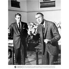 Jimmy Stewart Standing Next to Man Talking in Court Room 8 x 10 Inch Photo