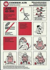 Safety Card - Cimber Air - ATR 42 300 (Denmark) (S3690)