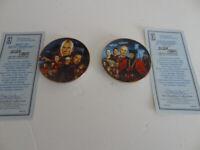 Star Trek Next Generation Mini Plates BEST OF BOTH WORLDS& ENCOUNTER AT FARPOINT