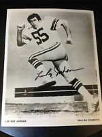 Lee Roy Jordan Signed/Autographed 8x10 Dallas Cowboys Team Issued Photo