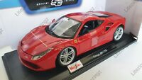 MAISTO 1:18 Scale Diecast Model Car  Ferrari 488 GTB in Red