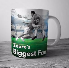 Zebre Fan Rugby Mug / Cup - Birthday / Christmas Gift / Stocking Filler