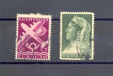CURACAO 2 STAMPS WITH FIRM PERFORATION F/VF