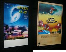 2 Orig Surfing Movie Posters TALES OF SEVEN SEAS MANY CLASSIC MOMENTS Full Size