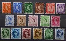 GB 1952 Wilding Stamps Set~(17) Tudor Crown~Unmounted Mint~UK Seller