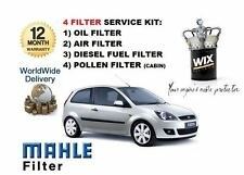 FOR FORD FIESTA 1.4TDCi 2001-2008 SERVICE KIT OIL AIR FUEL POLLEN 4 x FILTER KIT