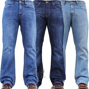 New Mens DENIM AND DYE Wide Leg Bootcut Flared Jeans Bell Bottom Retro 70s 80s