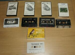 5 CASSETTE TAPES WILDLIFE RECORDINGS JOHN KIRBY BIRD SOUNDS NIGHTINGALE CURLEW