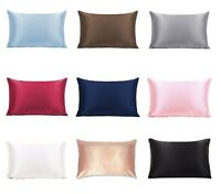 Pure Mulberry Silk Pillowcase Satin Pillow Cases Cushion Covers Home Decor Bed