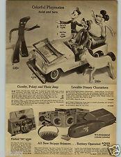 1966 PAPER AD Toy Playmates Gumby Pokey Mickey Donald Goofy Mr Potato Head Porky