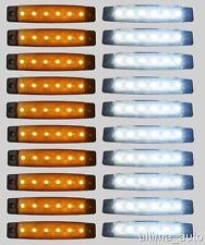 20 X SEGNALATORE LUCE INGOMBRO 6 LED SMD 12V 12 VOLT 2 colori CAMION RIMORCHI