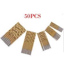 50PCS Micro Round Shank Drill Bits Set Small Precision HSS Twist Drill Tool DIY