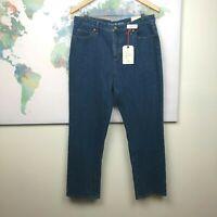 Lands' End Straight Leg Jeans Size 12 Petite Women's Fit 3 Medium Blue NWT