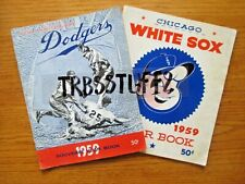 1959 WORLD SERIES OPPONENTS YEAR BOOKS-DODGERS & WHITE SOX-KOUFAX! DRYSDALE! FOX