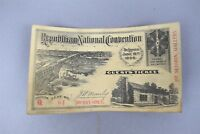 Antique 1896 Republican National Convention Guest's Ticket St. Louis