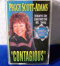 Peggy Scott Adams Contagious 10 track 1997 CASSETTE TAPE includes: spousal abuse