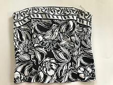 White House Black Market Painted Strapless Bustier Top XS Boning Cotton Occasion