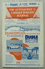 The AUTOMOBILE & CARRIAGE BUILDERS JOURNAL Magazine Nov 1937 Vol 79 No 474