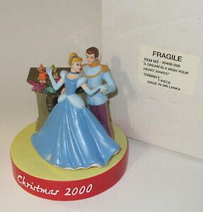 GROLIER DISNEY CHRISTMAS 2000 BISQUE FIGURINE Cinderella 50 Anniversary Limited