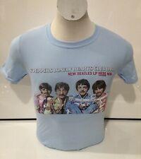 Los Beatles para hombre aquí & Ahora Camiseta Azul Pequeño