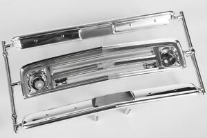 Axial 67' Chevrolet C/10 Grille Bumpers Chrome / Black AX31560