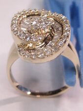$3,975 EFFY-14K Solid Yellow Gold 1.50 TCW Round &Baguette Diamond Ring Sz 7 1/4