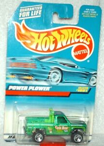 Hot Wheels 1999 #1081 Power Plower  Chevy 4x4,green,excellent card