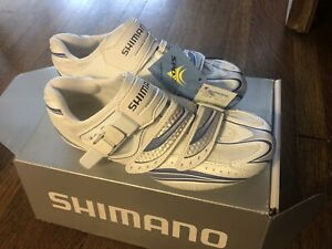 New-in-Box SHIMANO SH-WR61 Women's Road Bike Shoes 37EU, 5.5US, 23.2cm - White