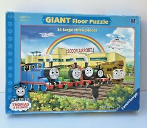 THOMAS & FRIENDS GIANT FLOOR PUZZLE 24 LARGE THICK PIECES SODOR AIRPORT RAINBOW