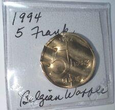 World'S Funniest Coin, Belgian Waffle, Not Edible, 1994 5 Franks Belgium Waffled