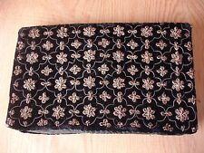 Vintage Black Velvet Clutch Bag