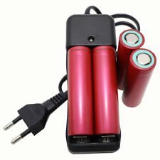 4X 18650 High Drain Batterie 3.7V 3000mAh Li-ion Rechargeable&Battery Chargeur