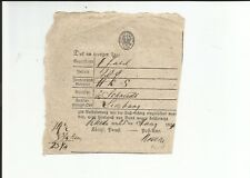 Pr.-V. / Rheda 25 März 1829, handschriftl. a. Quadrat-PS