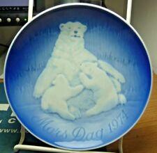 1974 Mors Dag, Bg Copenhagen Porcelain Plate, Den Mark, Mother Day Polar Bear