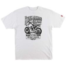 NEW FMF APPAREL Mens Adult Established Short Sleeve T-Shirt White Medium M